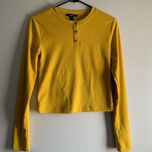 Yellow long sleeve from Forever 21.